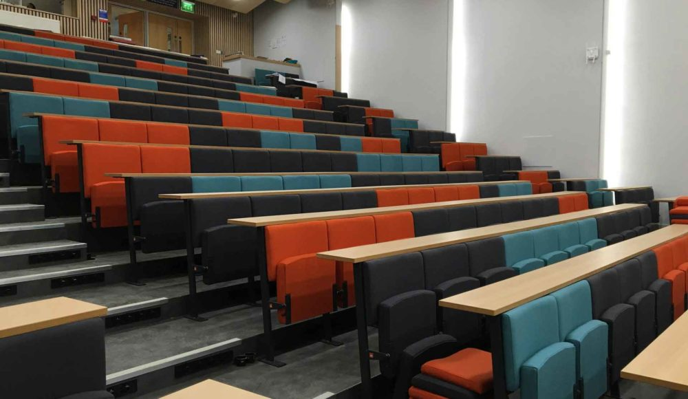 UoS Richard Roberts Auditorium. Flooring by Forbo & ege