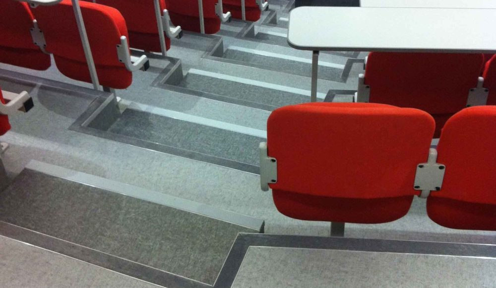UoS Richard Roberts Auditorium. Flooring by Forbo