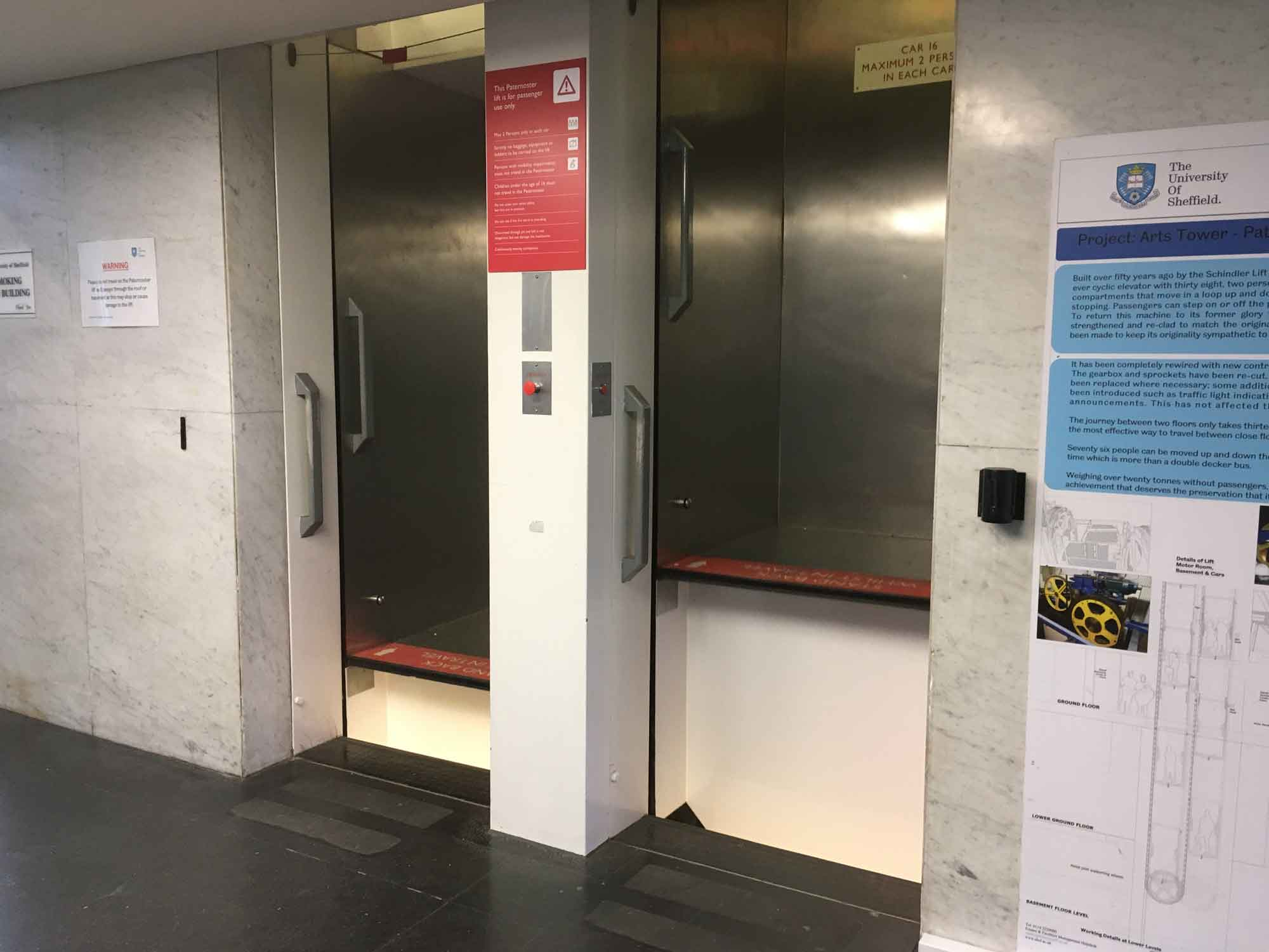 Uk S Largest Worlds Largest Surviving Paternoster Lift