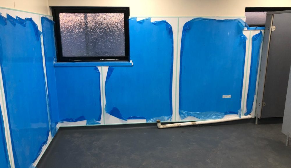 Install of white BioClad hygienic wall cladding for H&H Pollington