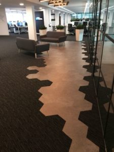 Interface carpet tiles and Tarkett & Karndean vinyl for Bluestone offices